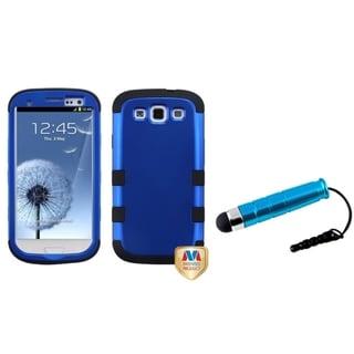 INSTEN Blue Mini Stylus/ TUFF Hybrid Phone Case Cover for Samsung Galaxy S III/ S3