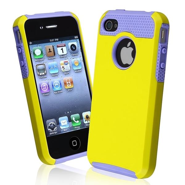 BasAcc Purple TPU/ Yellow Hard Hybrid Case for Apple iPhone 4/ 4S