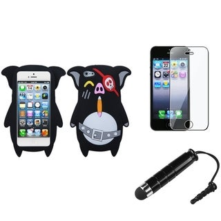 INSTEN Piggy Pirate Phone Case / Stylus/ LCD Protector for Apple iPhone 5/ 5S/ 5C/ SE