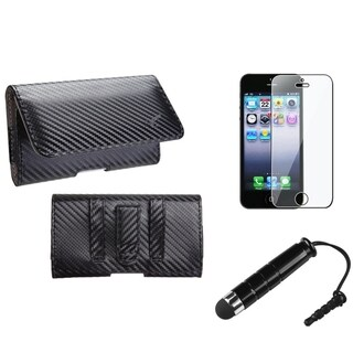 INSTEN Pouch-Style Phone Case / Stylus/ LCD Protector for Apple iPhone 5/ 5S/ 5C/ SE