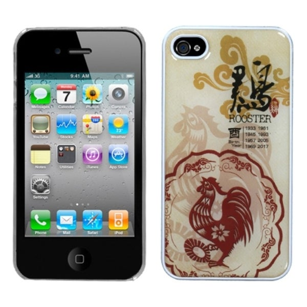 INSTEN Chicken/ Chinese Zodiac Dream Phone Case Cover for Apple iPhone 4S/ 4
