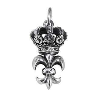 Silver Remarkable Fleur de Lis Crown Pendant (Thailand)