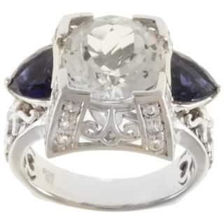 Dallas Prince Sterling Silver White Topaz, Iolite and White Sapphire Ring|https://ak1.ostkcdn.com/images/products/8210880/8210880/Dallas-Prince-Sterling-Silver-White-Topaz-Iolite-and-White-Sapphire-Ring-P15543379.jpg?impolicy=medium