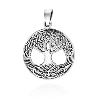 Handmade Amazing Rare Celtic Tree of Life Sterling Silver Charm Pendant (Thailand)