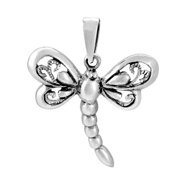 Handmade Sterling Silver Magical Dragonfly Pendant (Thailand)