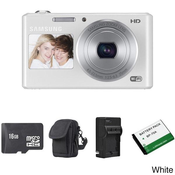 Samsung DV150F Dual View Smart 16.2MP Digital Camera 16GB Bundle
