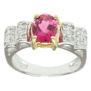 Michael Valitutti 18k Two-tone Gold Pink Tourmaline and Diamond Ring