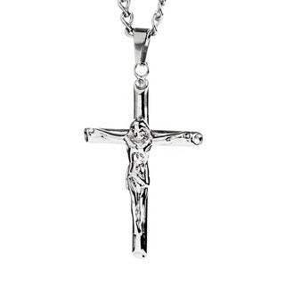 Stainless Steel Men's Crucifix Cross Necklace