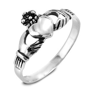 Sterling Silver Polished Claddagh Ring
