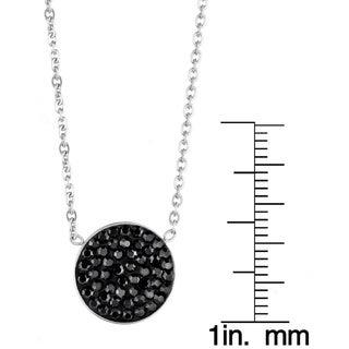 ELYA Stainless Steel Crystal Circle Necklace