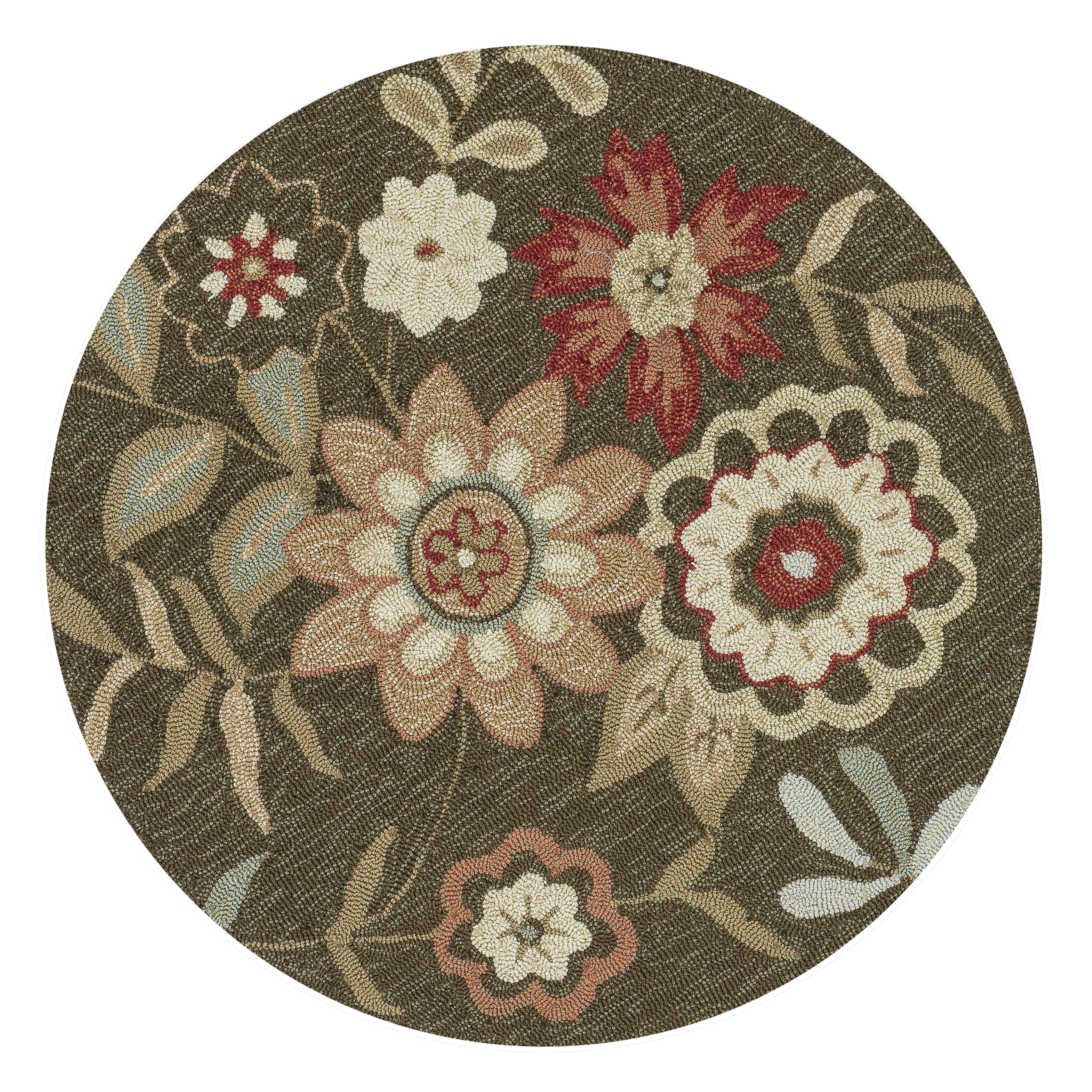 Loloi Alexander Home Hand-Hooked Charlotte Brown Rug (3' ...