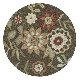 Hand-Hooked Charlotte Brown Rug (3' Round)