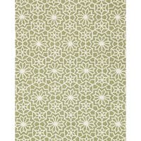 Hand Hooked Charlotte Green Rug - 7'6 x 9'6