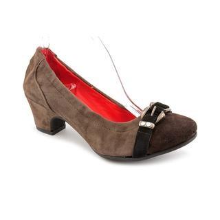 Amalfi By Rangoni Women's 'Pronta' Brown Suede Dress Shoes - Narrow