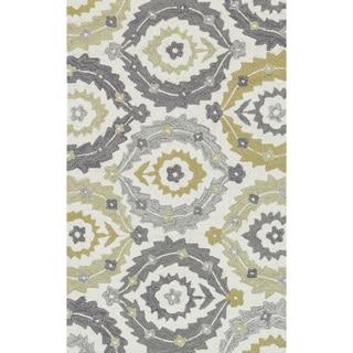 Hand-hooked Charlotte Ivory/ Multi Rug (2'3 x 3'9)