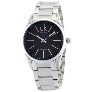 Calvin Klein Men's 'Bold' Black Dial Stainless Steel Watch