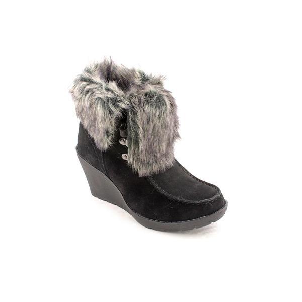 Khombu Women's 'Slide Fur' Faux Suede Boots