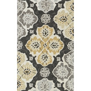 Hand-hooked Charlotte Charcoal/ Multi Rug (2'3 x 3'9)