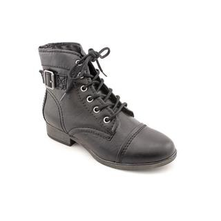 Madden Girl by Steve Madden Women's 'Armie' Black Faux Leather Boots