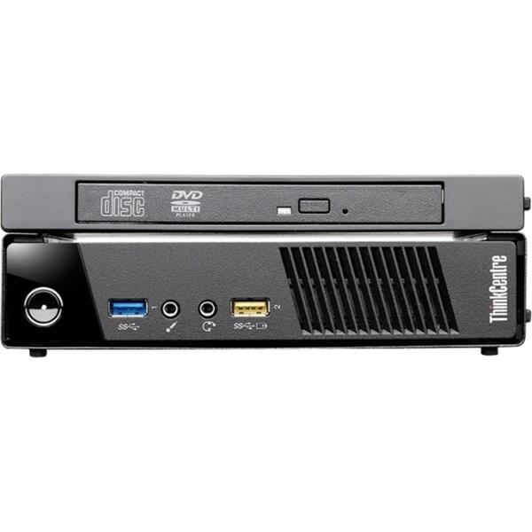 Lenovo ThinkCentre M93p 10AB0011US Desktop Computer - Core i7 i7-4765T - 8  GB RAM - 128 GB SSD - Tiny - Business Black