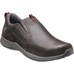Shop Men S Nunn Bush Esker Charcoal Grey Leather Free