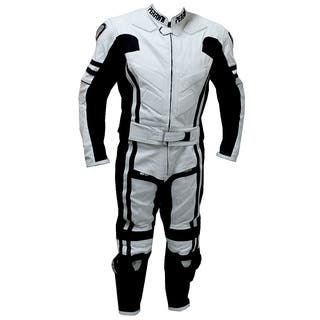 2-piece Perrini Ghost Motorcycle Racing Leather Suit Metal Waist Zipper|https://ak1.ostkcdn.com/images/products/8214228/P15546240.jpg?impolicy=medium
