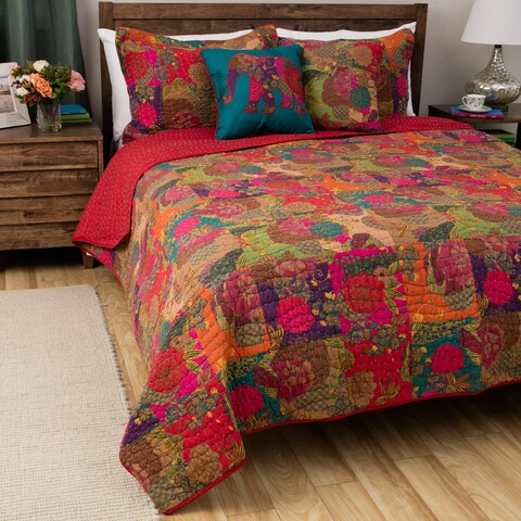 Greenland Home Jewel Oversized Reversible 3-piece Quilt Set