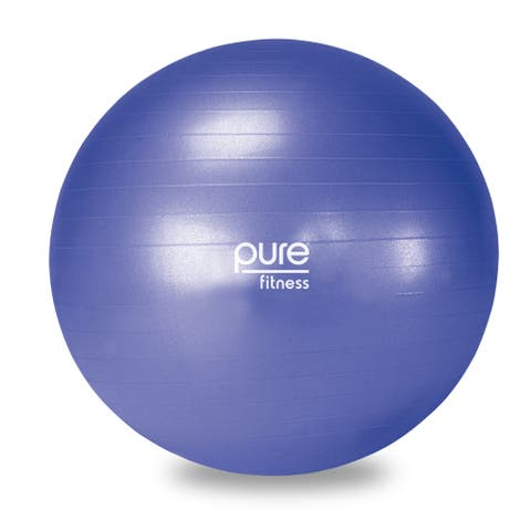 Pure Fitness 65cm Professional Anti-burst Exercise Stability Ball - Blue