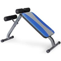 Pure Fitness Ab Crunch Sit-Up Bench - Black/Blue