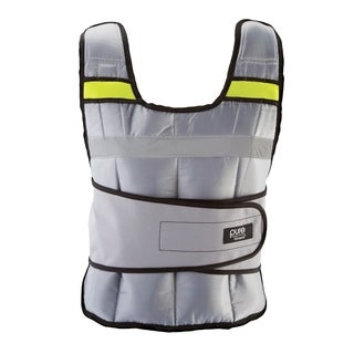 Pure Fitness 20 lb Adjustable Weighted Vest - Silver