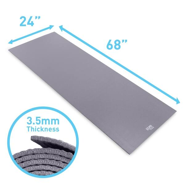 Shop Pure Fitness 3 5mm Yoga Mat Charcoal Grey 68x24 Free Shipping On Orders Over 45 Overstock 8214376