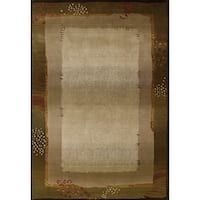 """Generations Transitional Green/ Beige Rug - 5'3"""" x 7'6"""""""