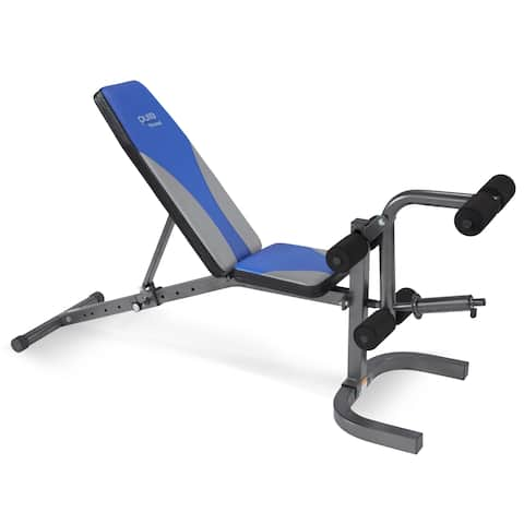 Pure Fitness Adjustable FID Weight Bench - Blue/Black