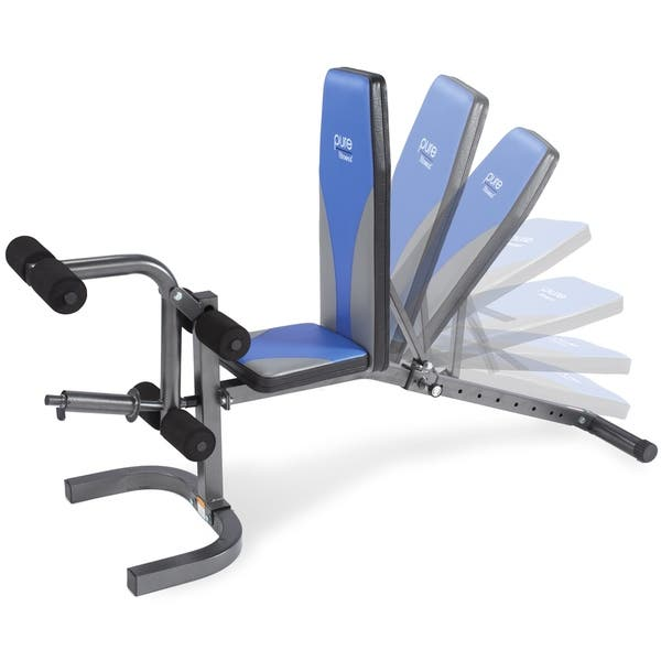 Fantastic Shop Pure Fitness Adjustable Fid Weight Bench Blue Black Machost Co Dining Chair Design Ideas Machostcouk