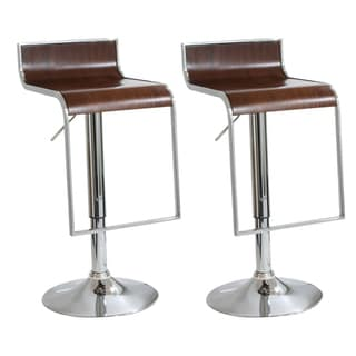 AmeriHome 2-piece Wood Finish Bar Stool Set