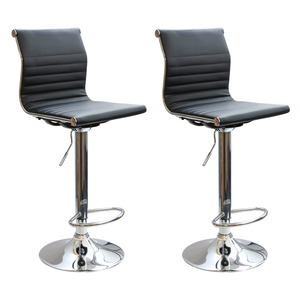 Modern Padded Barstools (Set of 2) By AmeriHome