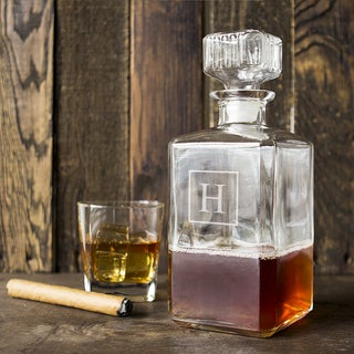 Personalized Square Glass Decanter (More options available)