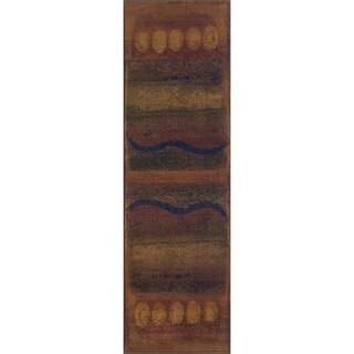 Kharma II Tan/ Red Rug (2'3 x 7'6)