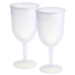 KitchenWorthy Acrylic Freezer Goblets (Case of 32) (Option: White)