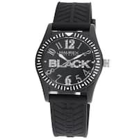 Haurex Italy Women's 'Promise G P' Black Crystal-accented Watch