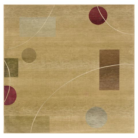 Generations Beige/ Red Rug (8' Square) - 8' Square