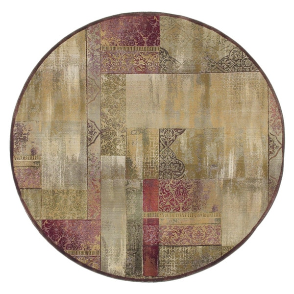 Copper Grove Aspromonte Traditional Green/ Beige Area Rug - 6' Round