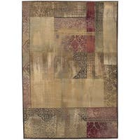 Copper Grove Aspromonte Green/ Beige Area Rug - 4' x 5'9