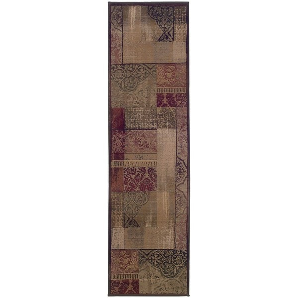 "Copper Grove Aspromonte Green/ Beige Area Rug - 2'7"" x 9'1"" Runner"