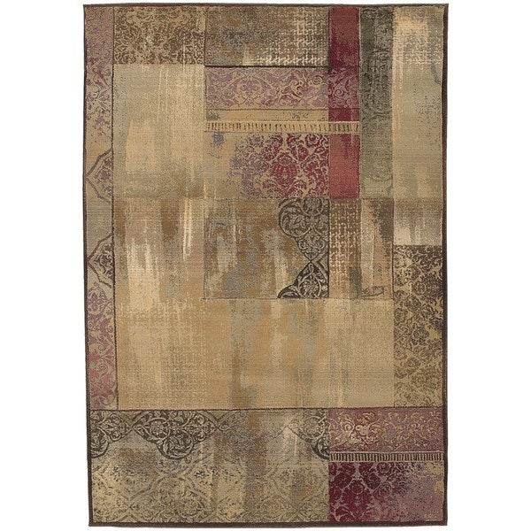 Copper Grove Aspromonte Easy-care Green/ Beige Area Rug - 5'3 x 7'6