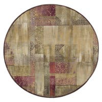Copper Grove Aspromonte Green/ Beige Area Rug - 8' Round