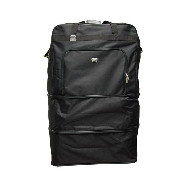 Heavy Duty Polyester : Black heavy duty polyester inch wheeled bag free