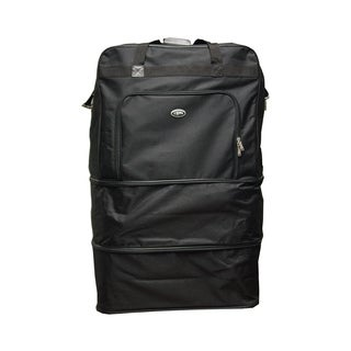 Black Heavy Duty Polyester 40-inch Wheeled Bag