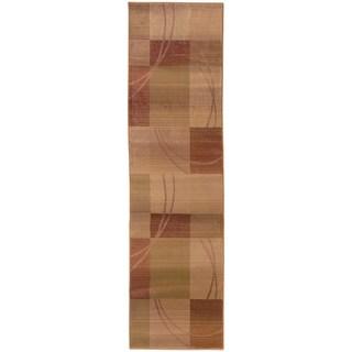 Generations Beige/ Rust Runner Rug (2'3 x 7'6)