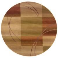 Generations Beige/ Rust Rug (8' Round) - 8' x 8' rnd